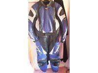 Dannisport 2 piece motorbike leathers.