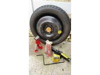 Toyota Avances Spare Wheel Rim tyre (2006-2009) and car's Jack and oil filter