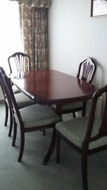 Strong Bow William Bartlet Dining Room table and 6 Chairs