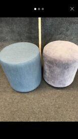 Reupholstered footstool/ stools