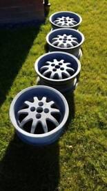 Rare retro dished stance AMIL 15×7j et25 4x100 mk1 mk2 golf mx5 wheels
