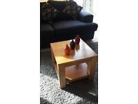 Chunky solid oak side/coffee table