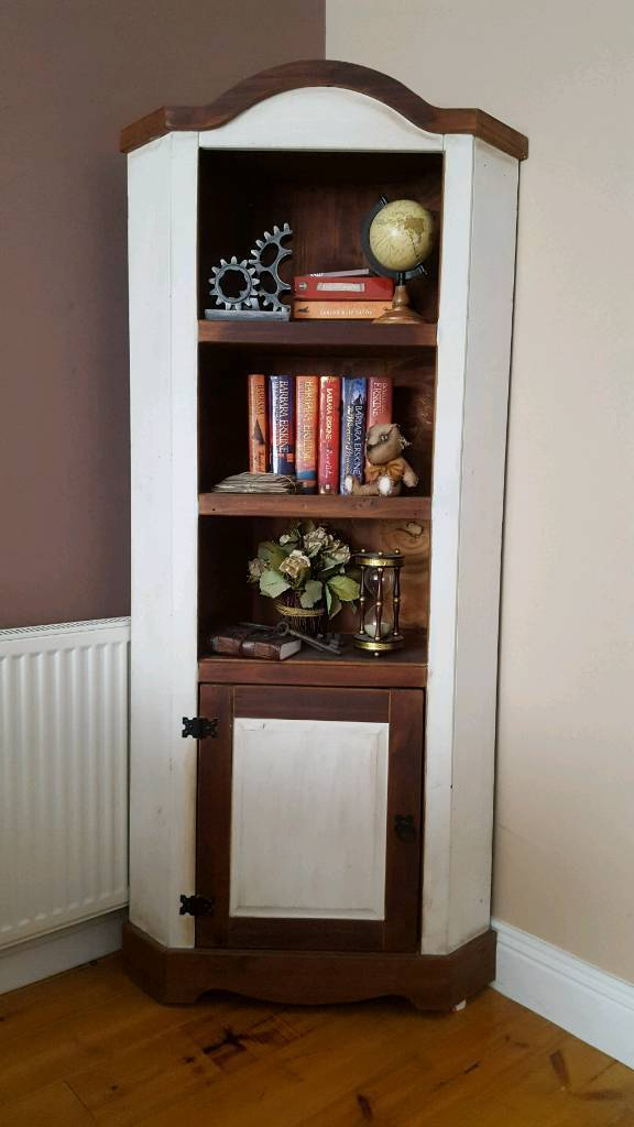 Wooden Corner Unit Display Cabinet