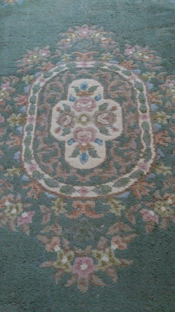 Very large green rug | in Hazel Grove
