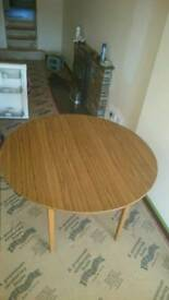 Teak effect table