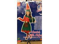 Santa's little helper Christmas elf child's costume. Girl.