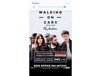 2 walking on cars tickets 21st dec ireland