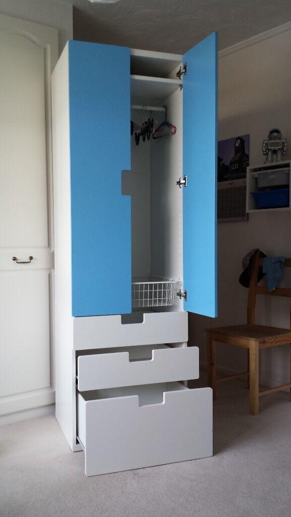 ikea white stuva wardrobe buy sale and trade ads. Black Bedroom Furniture Sets. Home Design Ideas