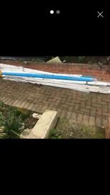 SOFFITS fascia cladding coverings white. Unused.