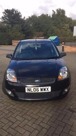 1.25 black Ford Fiesta, 3 door, low mileage, 48,000, good clean condition, MOT until 10/2017