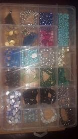 LOOK>>JOB LOT JEWELLERY MAKING ~ GEMSTONES ~ WIRE ~ TOOLS ~ MAGAZINES ~ BEADS ~ CHARMS ~ CRYSTALS!!!