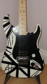Charvel EVH Art Series Van Halen USA Rare Ltd Edition 2006 White / Black Unplayed MINT Case