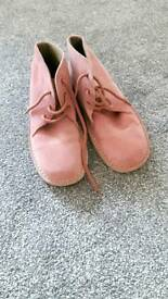 Pink Cotton Trader Desert Boots