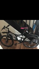 """Women's 18"""" Boss Stealth Full-Suspension Mountain Bike."""