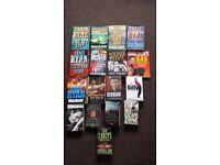 Job lot of books including Chris Ryan, Andy Mcnab.
