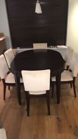 John Lewis Garbo extending dining table with six chairs
