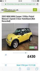 2003 MINI Mini Cooper 1598cc Petrol Manual 5 Speed 3 Door Hatchback For Sale
