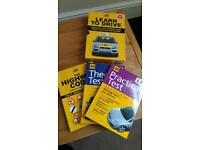 AA learn to drive books (highway code, Practical, Theory)