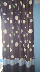 Space themed blackout curtains