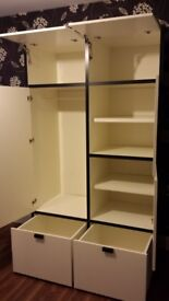 IKEA ODDA Wardrobe - with Hanging Space, adjustable Shelves and Drawers, excellent condition.