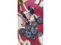 Bodymax 2 Dumbbells and 30KG weights