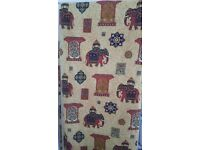 living room or bedroom curtains with elephant pattern / indian style