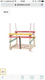 Wooden swing seat for babies
