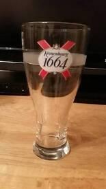 Kronenbourg 1664 pint glass