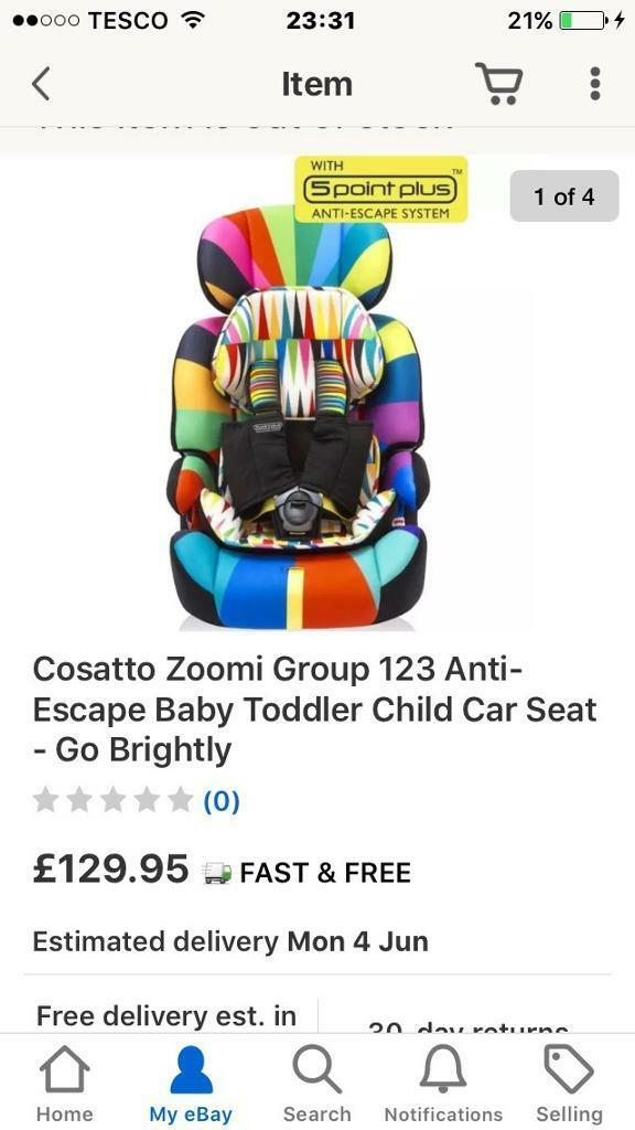 Cosatto Zoom Car Seat Stages 123