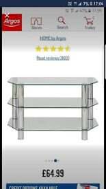 Glass Chrome TV Unit & Matching Coffee Table