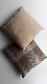 Tartan cushion x2