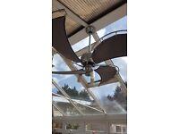 Fantasia spinnaker ceiling fan & lights, remote control