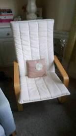 IKEA chair in cream