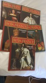 French books and cd x 5. French kings. As new