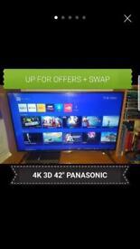 4K 3D RRP £650 TV PANASONIC UHD GAMING REMOTE CHEAP