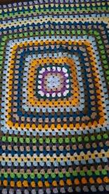 Vintage knitted blanket