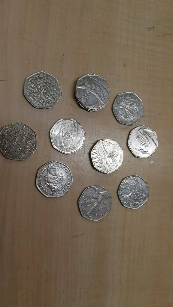 50p coins - collection of rare minted coins