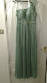 Green One Shouldered Bridesmaid Dress Size 8-10 £60 ONO Collection Only