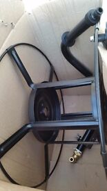 BRAND NEW STEEL WALL MOUNTED METAL HOSE REEL CART