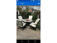 Garden table with built in fire pit RRP £1200