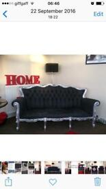 Shabby chic sofa and arm chair set