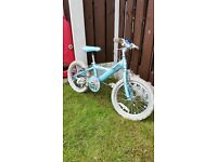 """Girls 16"""" bike in green in excellent condition can deliver for a small charge"""