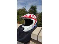 Full-Face Fox MTB Helmet and Goggles