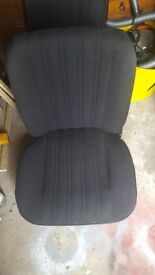 Matching pair of front seats for ford escort mk1 and mk2