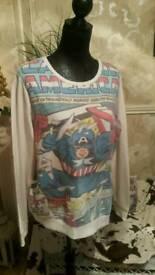 Captain America top size 16