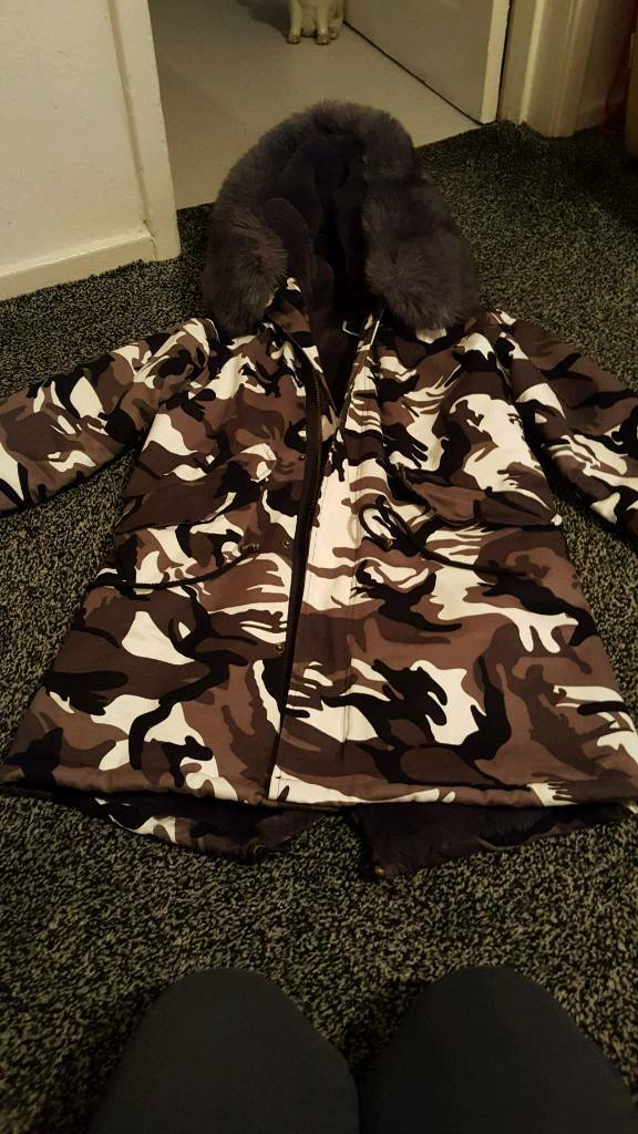 Ladies camouflage coat