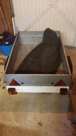 Good solid galavanised trailer with light board an top cover, stored inside