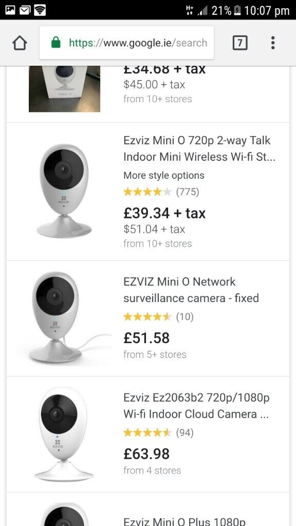 2 New sealed Ezviz mini o security cameras | in Cameron Toll