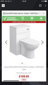 Cove 330mm BTW Toilet Unit Inc. Cistern + Soft Close seat
