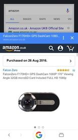 Falcon dash cam with 32Gb memory card included